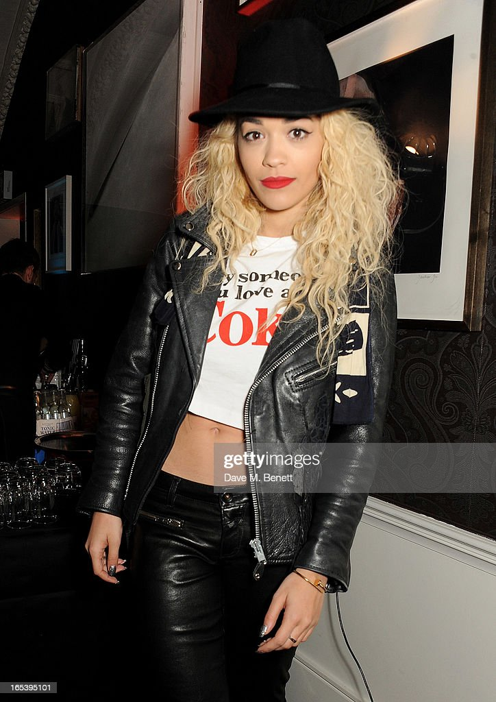 Rita Ora attends event planner Paul Rowe's 40th birthday party at The Groucho Club on April 3, 2013 in London, England.