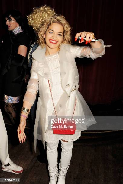 Rita Ora attends Fran Cutler's surprise birthday party supported by ABSOLUT Elyx at The Box Soho on April 30 2013 in London England