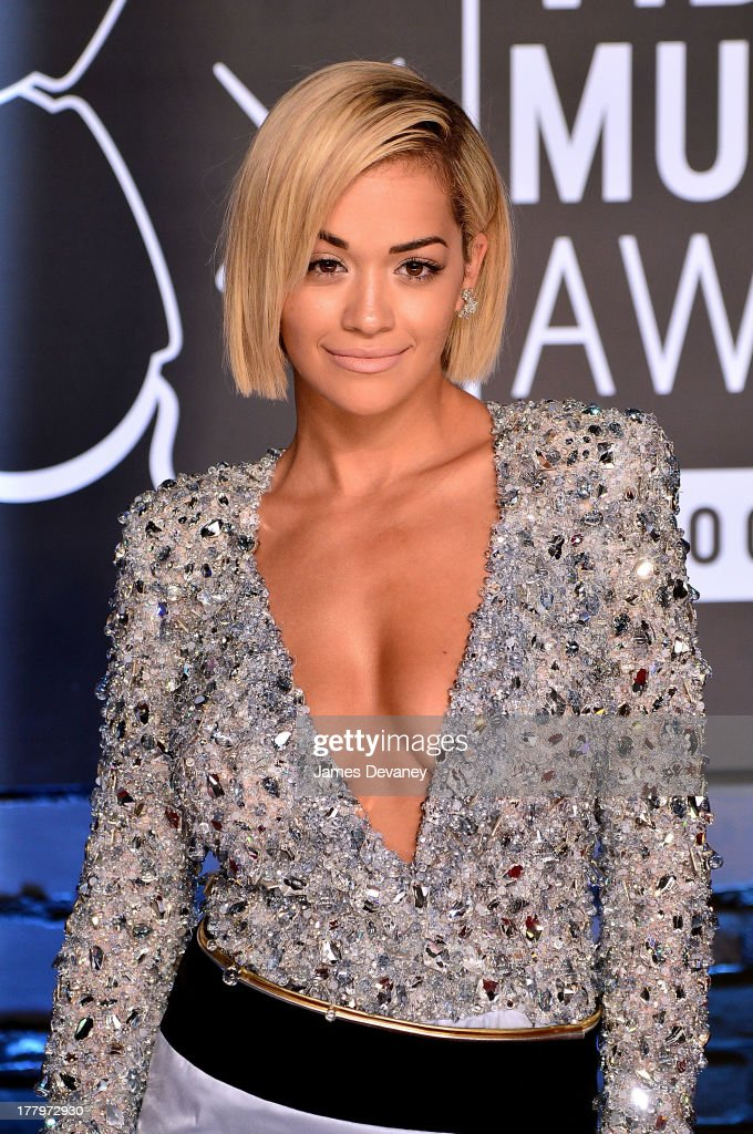 <a gi-track='captionPersonalityLinkClicked' href=/galleries/search?phrase=Rita+Ora&family=editorial&specificpeople=5686485 ng-click='$event.stopPropagation()'>Rita Ora</a> attends the 2013 MTV Video Music Awards at the Barclays Center on August 25, 2013 in the Brooklyn borough of New York City.