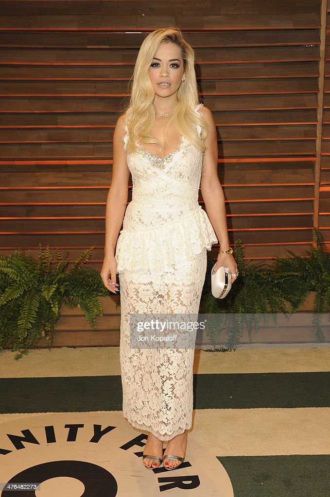 <a gi-track='captionPersonalityLinkClicked' href=/galleries/search?phrase=Rita+Ora&family=editorial&specificpeople=5686485 ng-click='$event.stopPropagation()'>Rita Ora</a> attends the 2014 Vanity Fair Oscar Party hosted by Graydon Carter on March 2, 2014 in West Hollywood, California.
