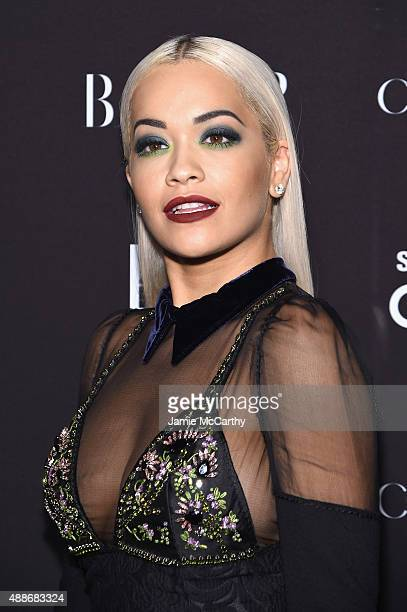 Rita Ora attends the 2015 Harper's BAZAAR ICONS Event at The Plaza Hotel on September 16 2015 in New York City