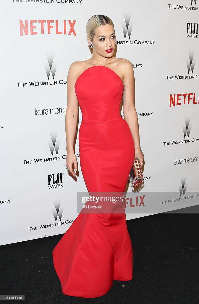 Rita Ora attends the 2015 Weinstein Company and Netflix Golden Globes After Party at Robinsons May Lot on January 11 2015 in Beverly Hills California