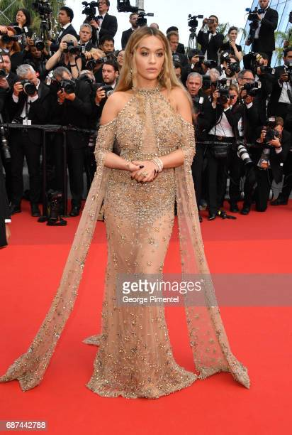Rita Ora attends the 70th Anniversary screening during the 70th annual Cannes Film Festival at Palais des Festivals on May 23 2017 in Cannes France