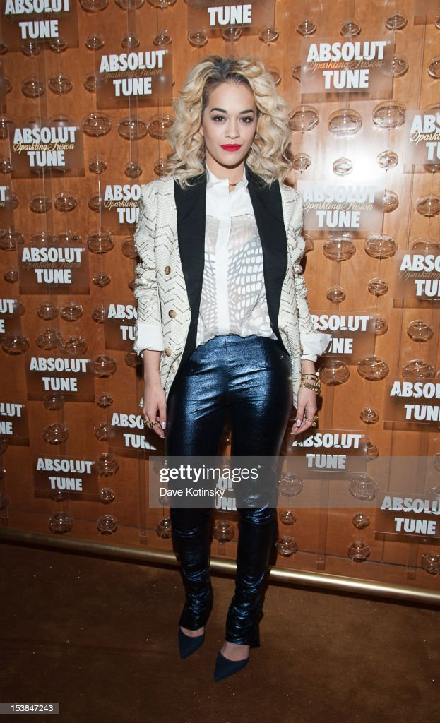Rita Ora attends the Absolut Tune Launch Party at The Top of The Standard on October 9, 2012 in New York City.