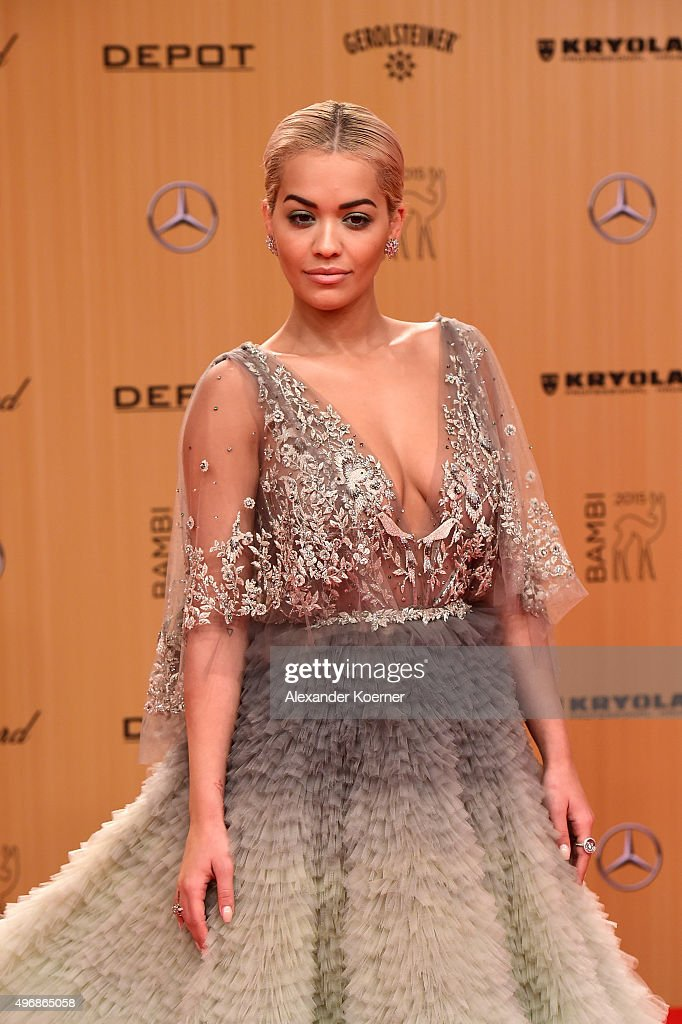 <a gi-track='captionPersonalityLinkClicked' href=/galleries/search?phrase=Rita+Ora&family=editorial&specificpeople=5686485 ng-click='$event.stopPropagation()'>Rita Ora</a> attends the Bambi Awards 2015 at Stage Theater on November 12, 2015 in Berlin, Germany.