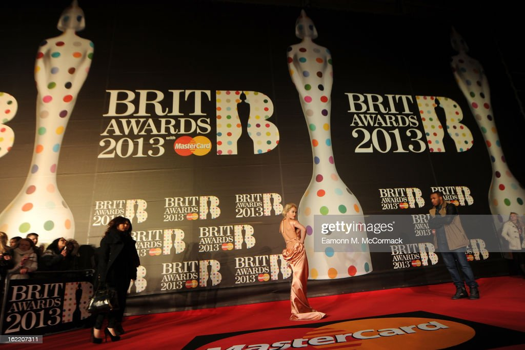 Rita Ora attends the Brit Awards 2013 at the 02 Arena on February 20, 2013 in London, England.