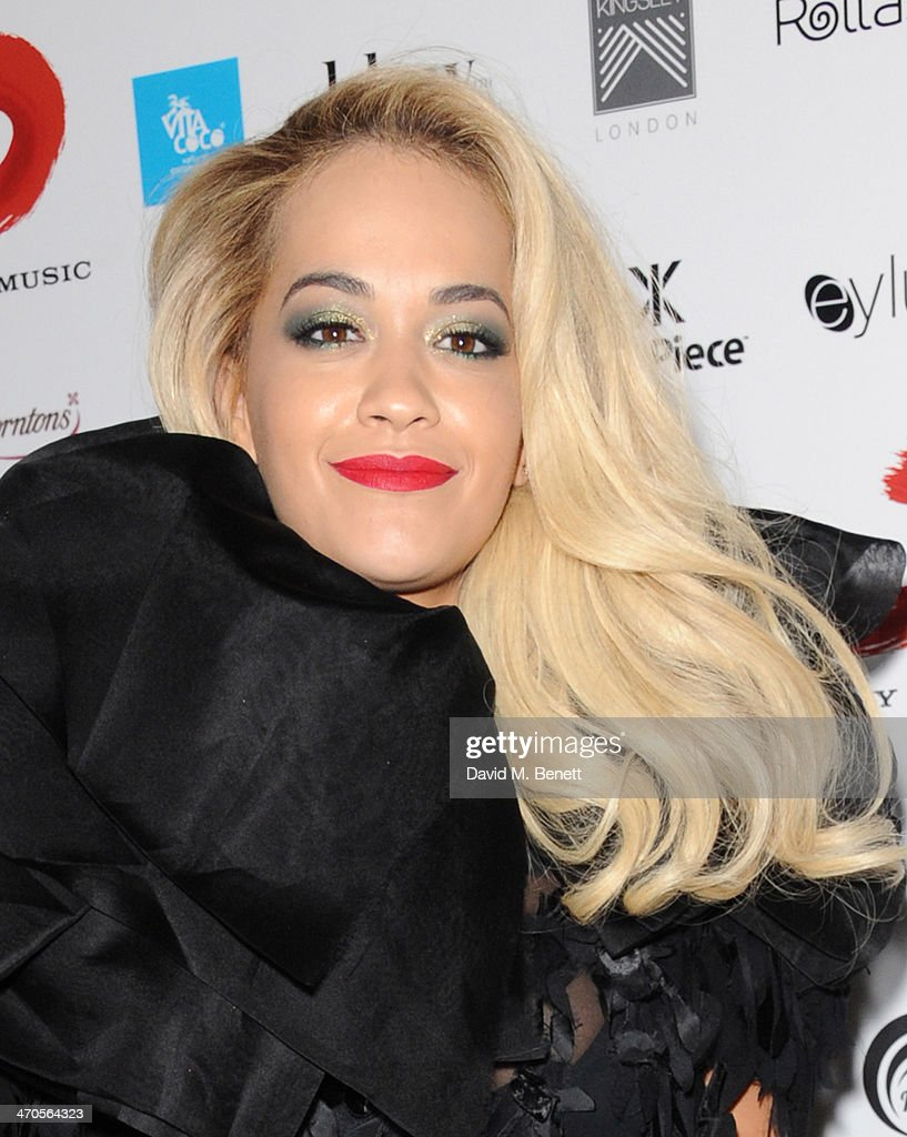 <a gi-track='captionPersonalityLinkClicked' href=/galleries/search?phrase=Rita+Ora&family=editorial&specificpeople=5686485 ng-click='$event.stopPropagation()'>Rita Ora</a> attends The BRIT Awards 2014 Sony after party on February 19, 2014 in London, England.