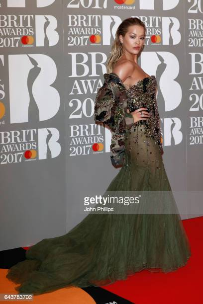 Rita Ora attends The BRIT Awards 2017 at The O2 Arena on February 22 2017 in London England