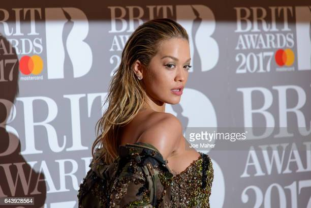 ONLY Rita Ora attends The BRIT Awards 2017 at The O2 Arena on February 22 2017 in London England