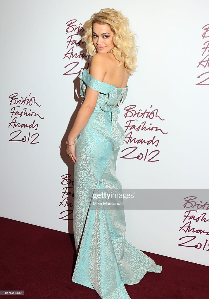 <a gi-track='captionPersonalityLinkClicked' href=/galleries/search?phrase=Rita+Ora&family=editorial&specificpeople=5686485 ng-click='$event.stopPropagation()'>Rita Ora</a> attends the British Fashion Awards 2012 at The Savoy Hotel on November 27, 2012 in London, England.