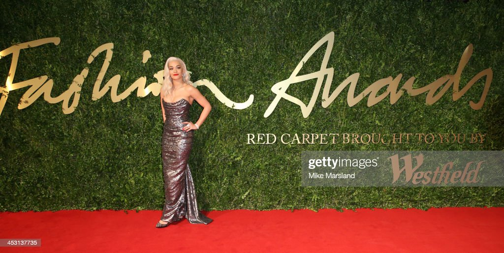 <a gi-track='captionPersonalityLinkClicked' href=/galleries/search?phrase=Rita+Ora&family=editorial&specificpeople=5686485 ng-click='$event.stopPropagation()'>Rita Ora</a> attends the British Fashion Awards 2013 at London Coliseum on December 2, 2013 in London, England.