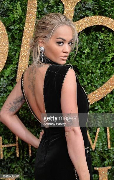 Rita Ora attends the British Fashion Awards 2015 at London Coliseum on November 23 2015 in London England