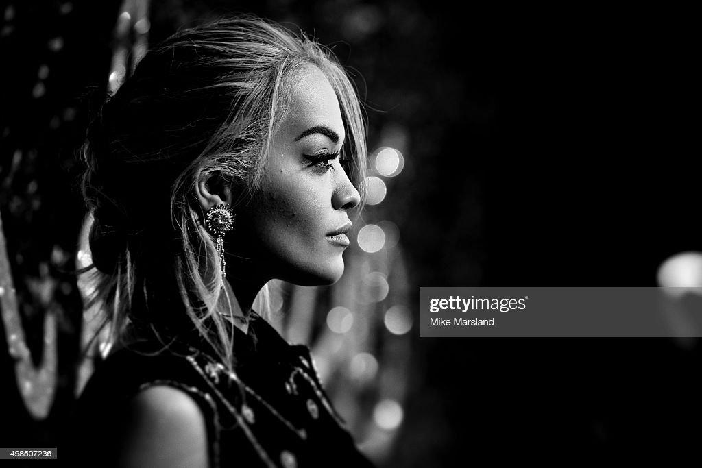 Rita Ora attends the British Fashion Awards 2015 at London Coliseum on November 23, 2015 in London, England.