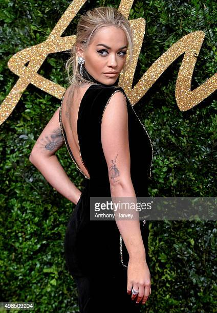 Rita Ora attends the British Fashion Awards 2015 at London Coliseum on November 23 2015 in London England