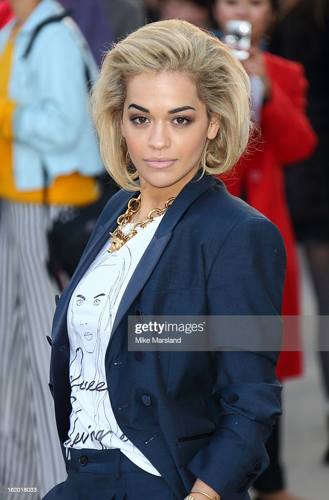 Rita Ora attends the Burberry Prorsum show during London Fashion Week Fall/Winter 2013/14 at on February 18, 2013 in London, England.
