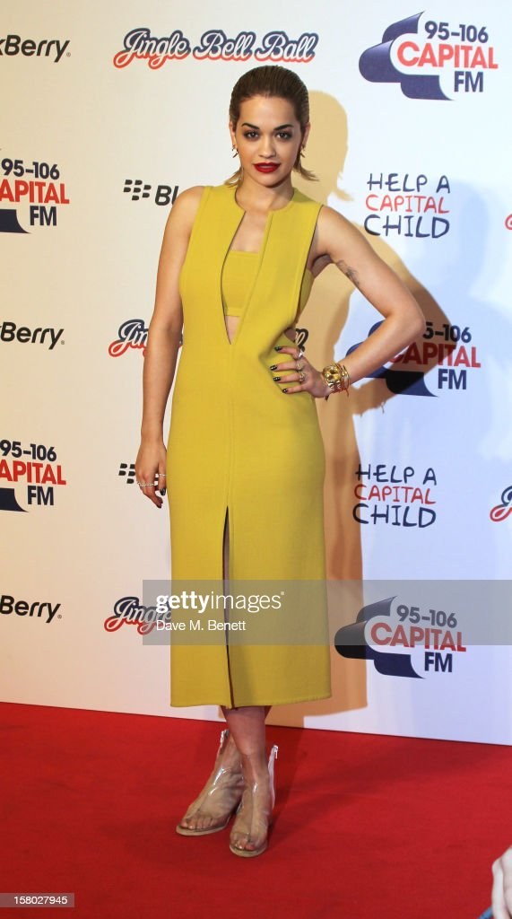 Rita Ora attends the Capital FM Jingle Bell Ball at 02 Arena on December 9, 2012 in London, England.
