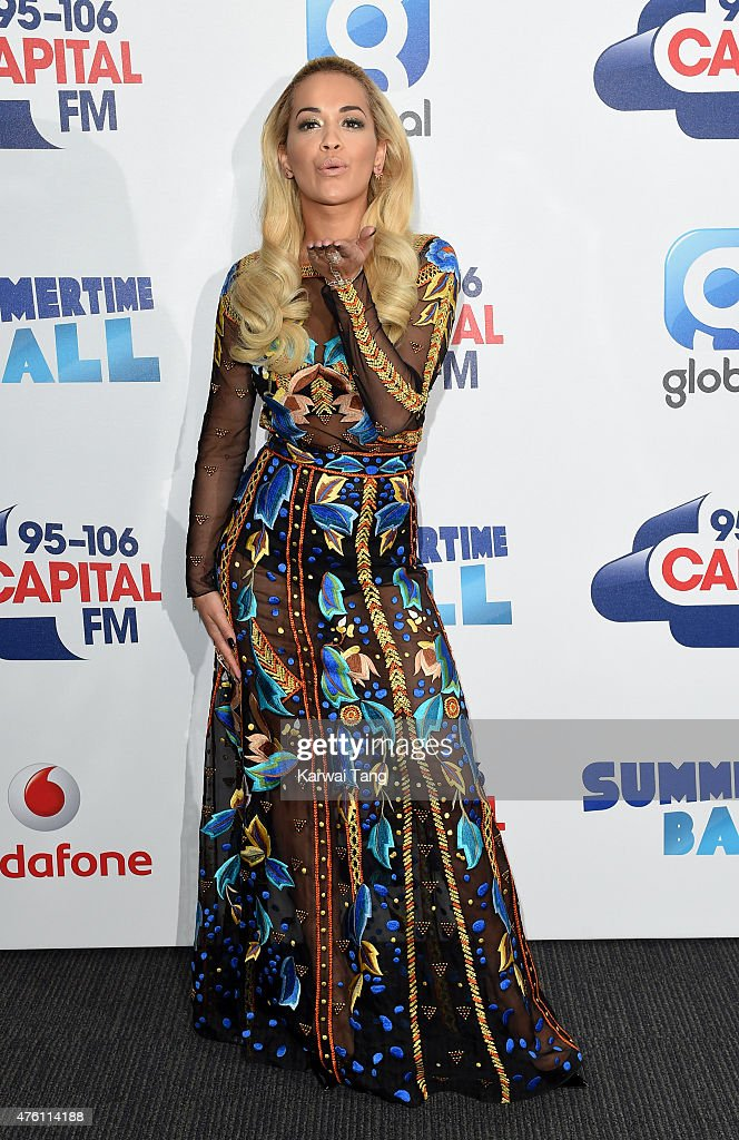 Rita Ora attends the Capital FM Summertime Ball at Wembley Stadium on June 6, 2015 in London, England.