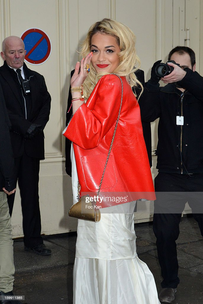 <a gi-track='captionPersonalityLinkClicked' href=/galleries/search?phrase=Rita+Ora&family=editorial&specificpeople=5686485 ng-click='$event.stopPropagation()'>Rita Ora</a> attends the Chanel Spring/Summer 2013 Haute-Couture show as part of Paris Fashion Week at Grand Palais on January 22, 2013 in Paris, France.