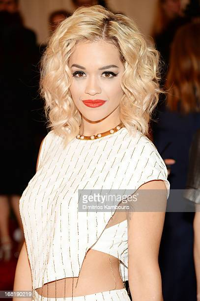 Rita Ora attends the Costume Institute Gala for the 'PUNK Chaos to Couture' exhibition at the Metropolitan Museum of Art on May 6 2013 in New York...