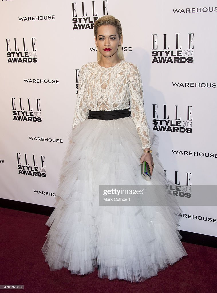 <a gi-track='captionPersonalityLinkClicked' href=/galleries/search?phrase=Rita+Ora&family=editorial&specificpeople=5686485 ng-click='$event.stopPropagation()'>Rita Ora</a> attends the Elle Style Awards 2014 at one Embankment on February 18, 2014 in London, England.