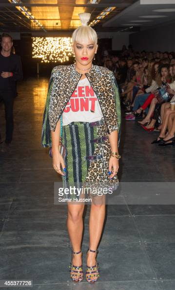 Rita Ora attends the House of Holland show during London Fashion Week Spring Summer 2015 at on September 13 2014 in London England