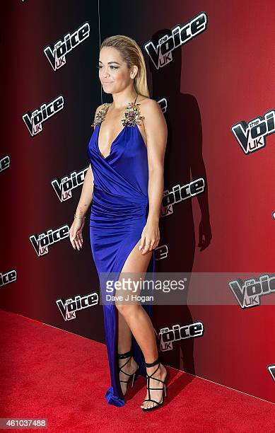 Rita Ora attends the launch of 'The Voice UK' Series 4 at The Mondrian Hotel on January 5 2015 in London England