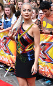 Rita Ora attends the London auditions of The X Factor at SSE Arena on July 16 2015 in London England