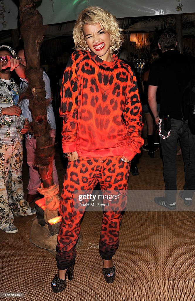 <a gi-track='captionPersonalityLinkClicked' href=/galleries/search?phrase=Rita+Ora&family=editorial&specificpeople=5686485 ng-click='$event.stopPropagation()'>Rita Ora</a> attends the Mahiki Coconut Backstage Bar during day 2 of V Festival 2013 at Hylands Park on August 18, 2013 in Chelmsford, England.