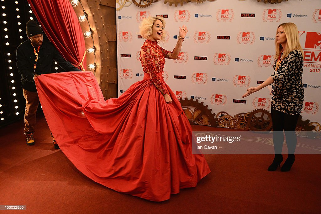 <a gi-track='captionPersonalityLinkClicked' href=/galleries/search?phrase=Rita+Ora&family=editorial&specificpeople=5686485 ng-click='$event.stopPropagation()'>Rita Ora</a> attends the MTV EMA's 2012 at Festhalle Frankfurt on November 11, 2012 in Frankfurt am Main, Germany.