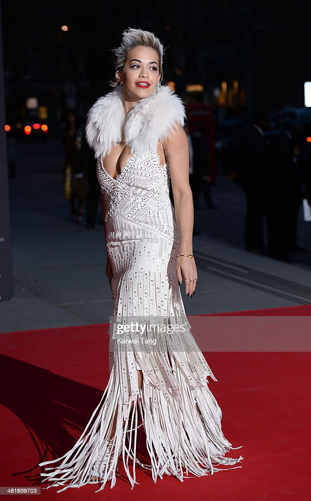 <a gi-track='captionPersonalityLinkClicked' href=/galleries/search?phrase=Rita+Ora&family=editorial&specificpeople=5686485 ng-click='$event.stopPropagation()'>Rita Ora</a> attends the preview of The Glamour of Italian Fashion exhibition at the Victoria & Albert Museum on April 1, 2014 in London, England.