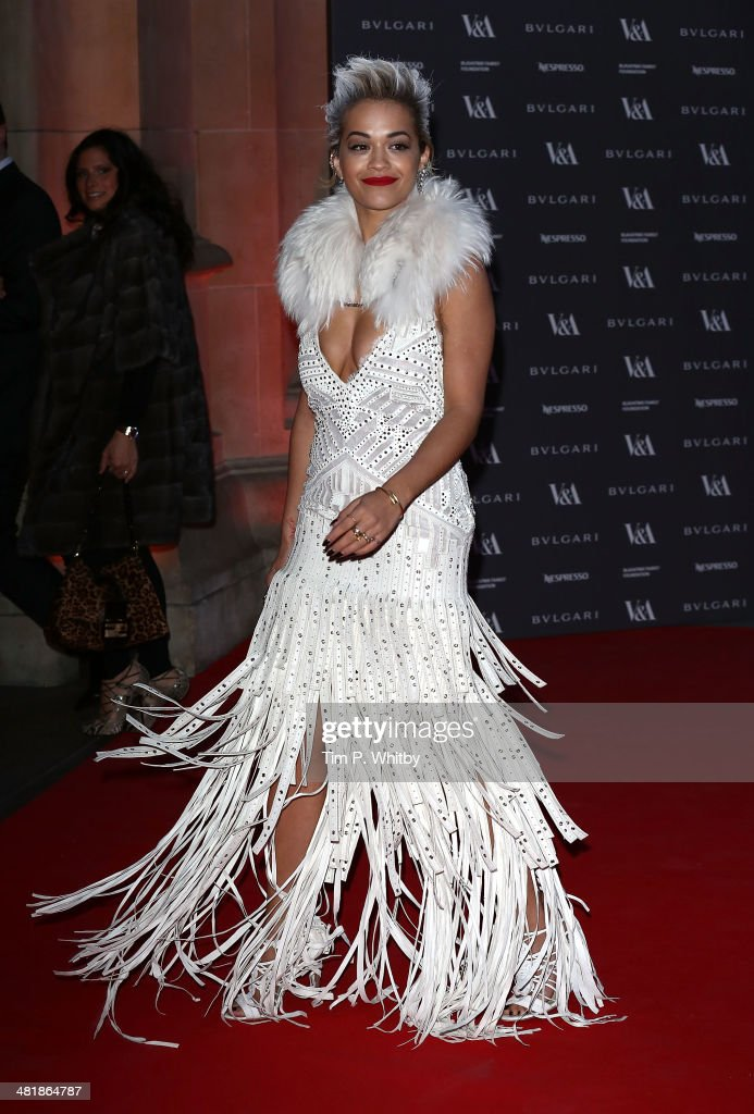 Rita Ora attends the preview of The Glamour of Italian Fashion exhibition at Victoria & Albert Museum on April 1, 2014 in London, England.