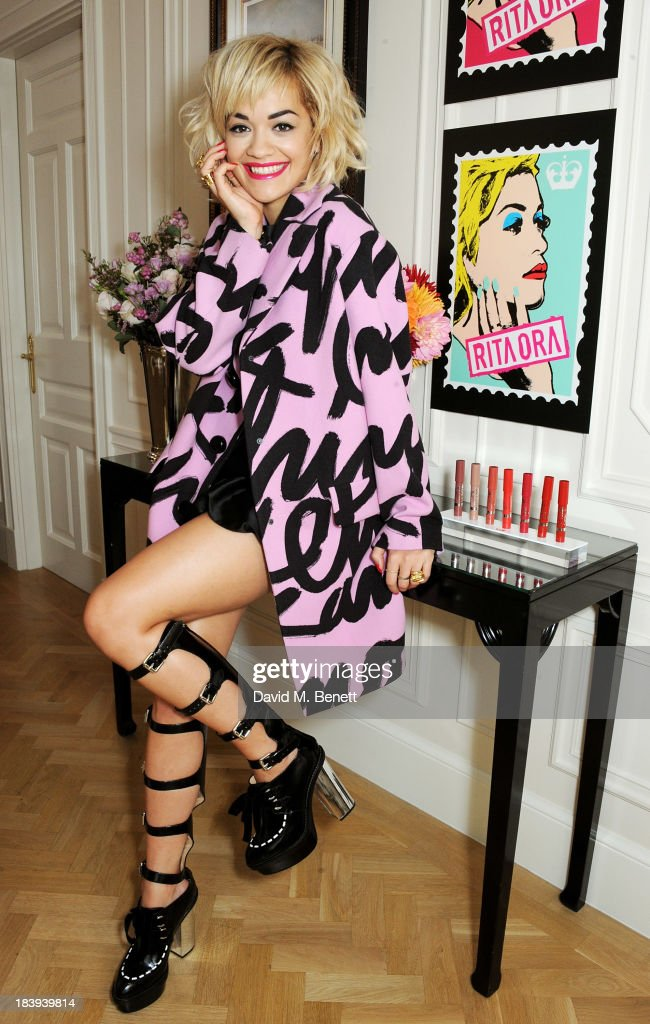 <a gi-track='captionPersonalityLinkClicked' href=/galleries/search?phrase=Rita+Ora&family=editorial&specificpeople=5686485 ng-click='$event.stopPropagation()'>Rita Ora</a> attends the Rimmel London 180 Years Of Cool photocall at The Savoy Hotel on October 10, 2013 in London, England.