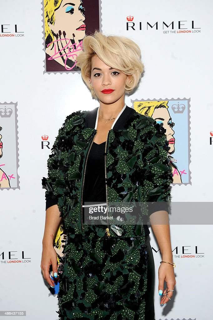 Rita Ora attends the Rimmel London press preview at The Mercer Hotel on April 24, 2014 in New York City.