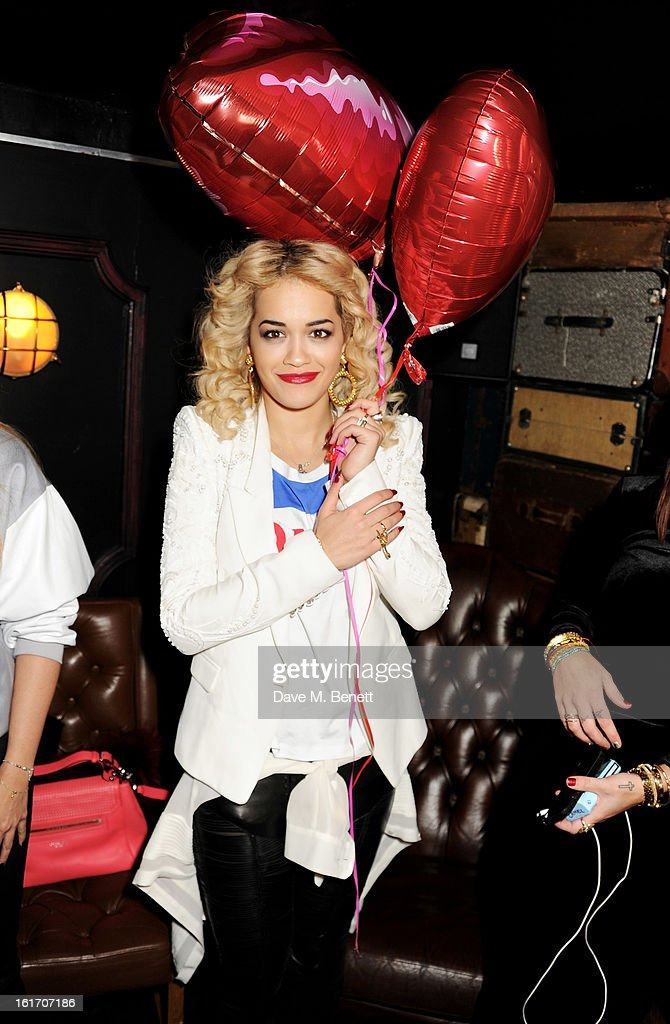 Rita Ora attends The Rum Kitchen's Valentine's Speed Dating with The Village Bicycle on February 14, 2013 in London, England.