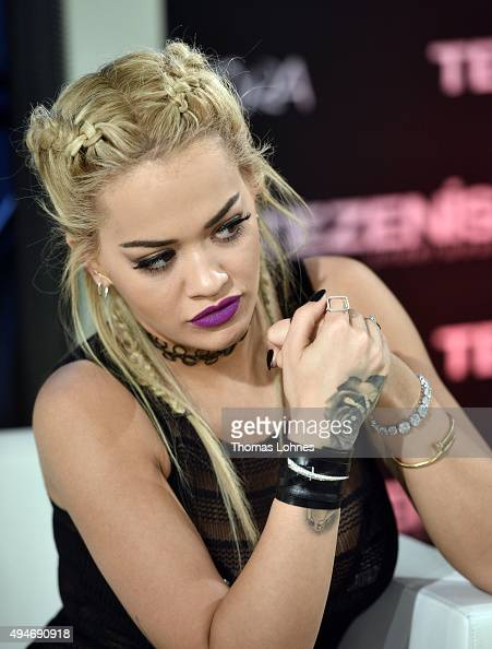 Rita Ora attends the 'Tezenis Underwear Campaign Launch Party' on October 28 2015 in Frankfurt am Main Germany