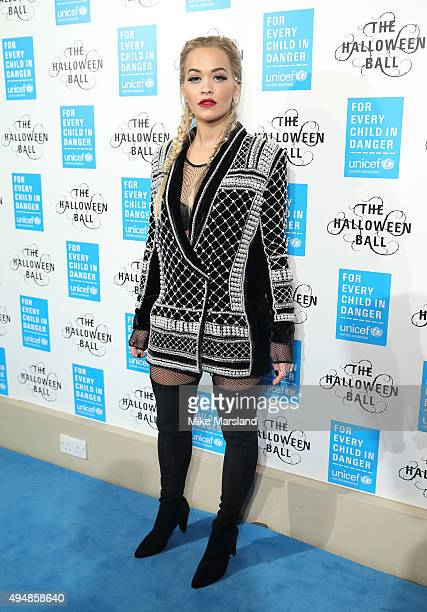 Rita Ora attends the UNICEF Halloween Ball at One Mayfair on October 29 2015 in London England