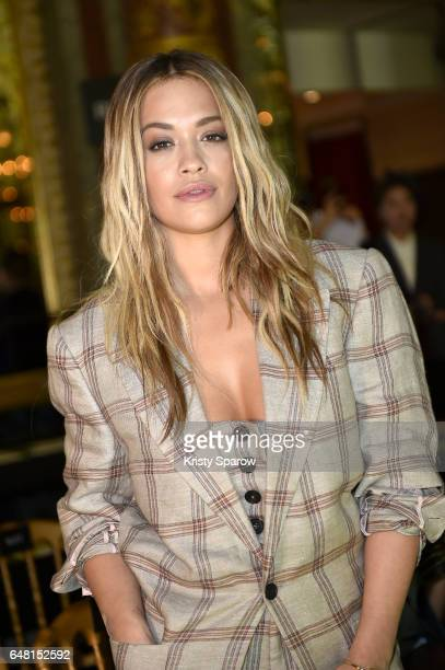 Rita Ora attends the Vivienne Westwood show as part of Paris Fashion Week Womenswear Fall/Winter 2017/2018 on March 4 2017 in Paris France