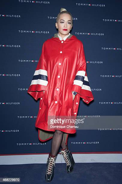Rita Ora attends theTommy Hilfiger Boutique Opening At Boulevard Capucines In Paris on March 31 2015 in Paris France