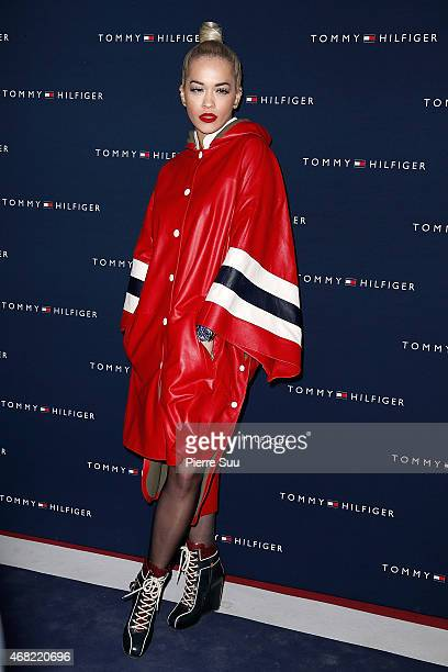 Rita Ora attends Tommy Hilfiger Boutique Opening at on March 31 2015 in Paris France