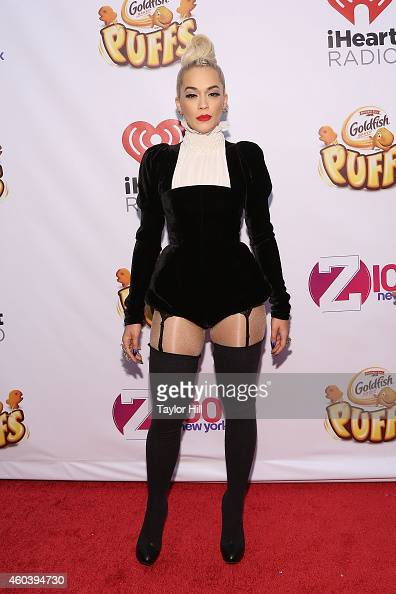 Rita Ora attends Z100's Jingle Ball at Madison Square Garden on December 12 2014 in New York City