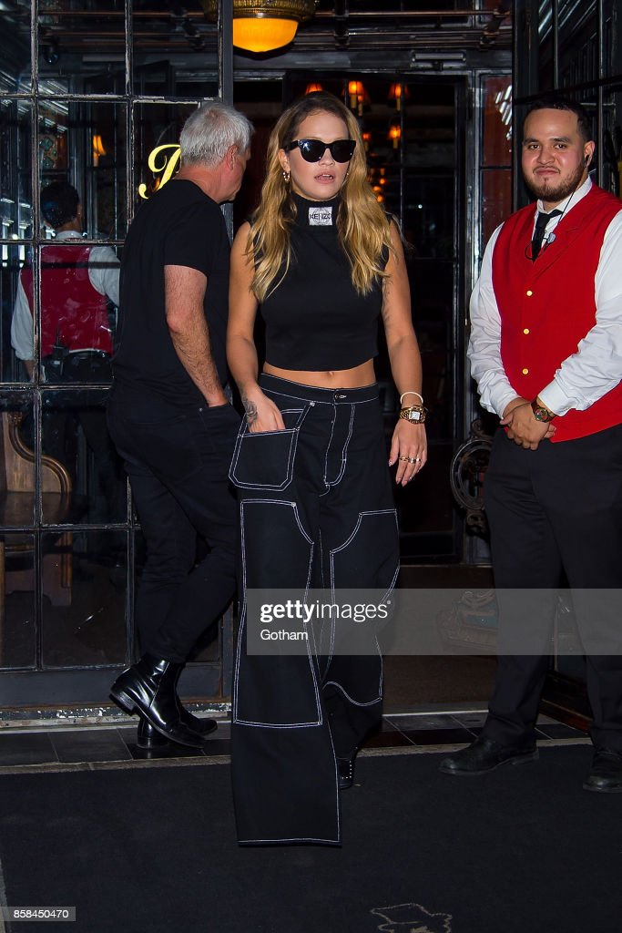 Rita Ora is seen in the East Village on October 6, 2017 in New York City.