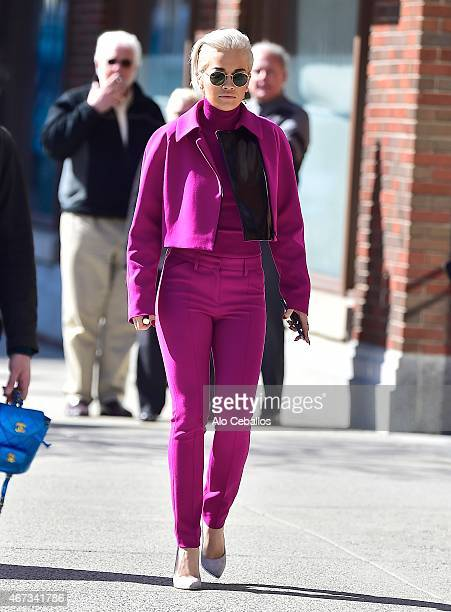 Rita Ora is seen in the West Village on March 23 2015 in New York City