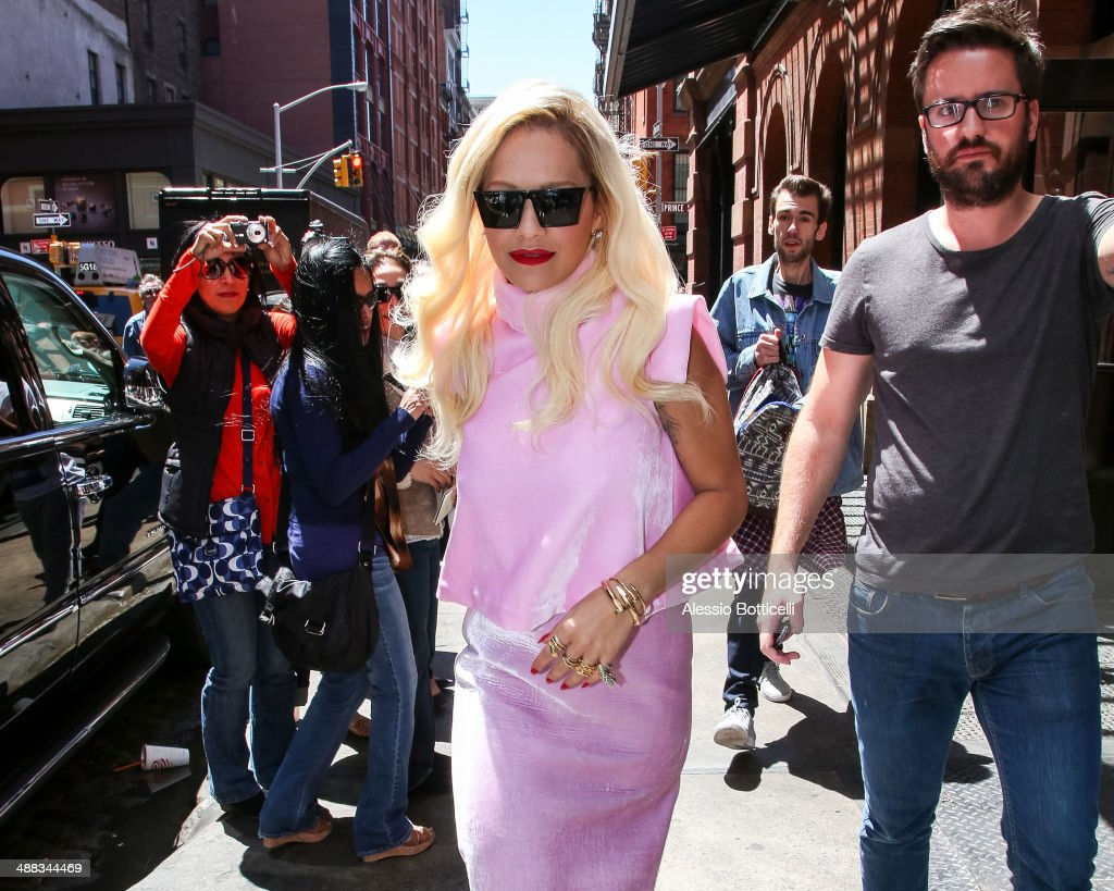 <a gi-track='captionPersonalityLinkClicked' href=/galleries/search?phrase=Rita+Ora&family=editorial&specificpeople=5686485 ng-click='$event.stopPropagation()'>Rita Ora</a> is seen leaving her Downtown hotel on May 5, 2014 in New York City.