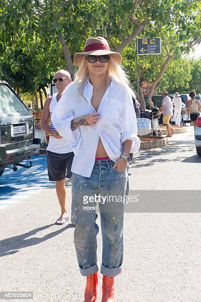 Rita Ora is seen on August 1 2015 in Ibiza Spain