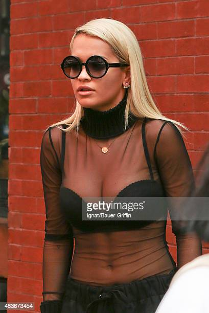 Rita Ora is seen on August 11 2015 in New York City
