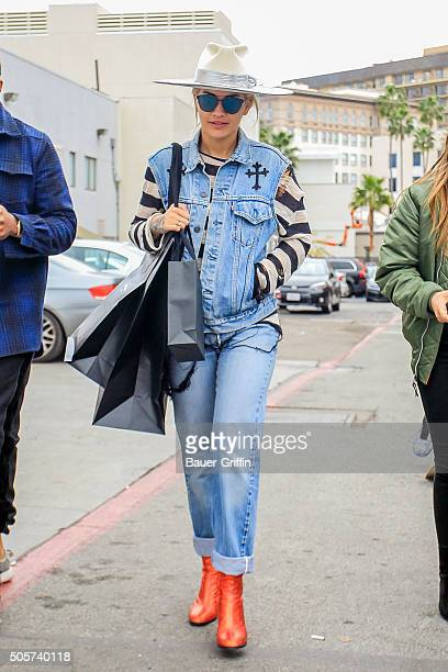 Rita Ora is seen on January 19 2016 in Los Angeles California