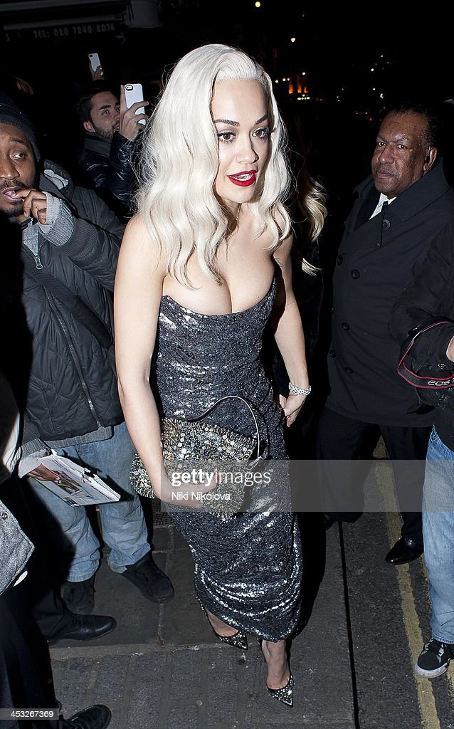 Rita Ora is sighted leaving the British Fashion Awards 2013 on December 2, 2013 in London, England.