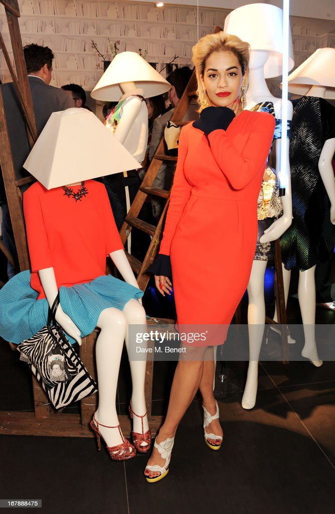 <a gi-track='captionPersonalityLinkClicked' href=/galleries/search?phrase=Rita+Ora&family=editorial&specificpeople=5686485 ng-click='$event.stopPropagation()'>Rita Ora</a> launches the British Designers' Collection at Bicester Village on May 2, 2013 in Bicester, England.