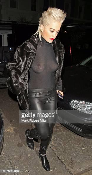 Rita Ora leaves the Shepherd's Bush Empire on March 25 2015 in London England
