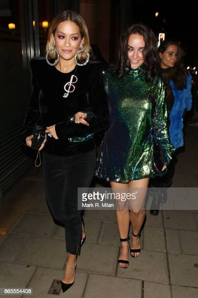 Rita Ora leaving C London restaurant on October 23 2017 in London England